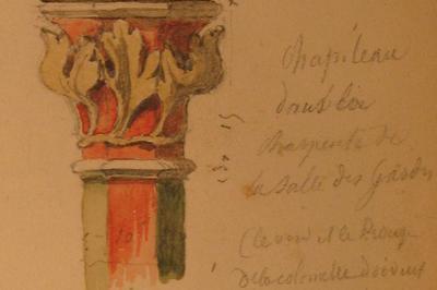 Exposition Sur La Salle Des Gardes Et Les Logis Médiévaux De L'abbaye Aux Hommes à Caen