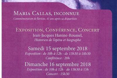 Exposition Sur Maria Callas. à Baume les Messieurs
