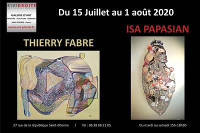 Exposition Thierry Fabre et Isa Papasian à Saint Etienne