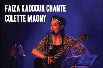 Faiza Kaddour chante Colette Magny à Avignon