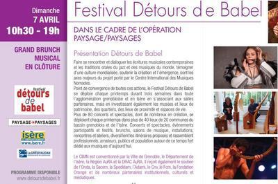 Festival Détours de Babel 2019