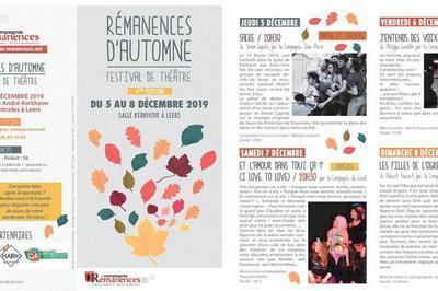 Festival Rémanences d'automne 2019 : 6ème édition !
