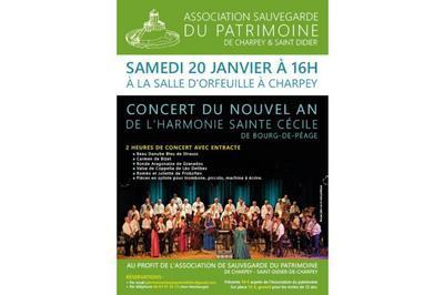 Concert du Nouvel An de l'Harmonie Ste-Cécile de Bourg-de-Péage à Charpey
