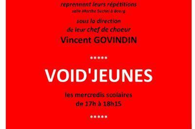 Le choeur de jeunes d'Arthémis Musique, VOID'JEUNES, rentrée 2020 à Bourg en Bresse