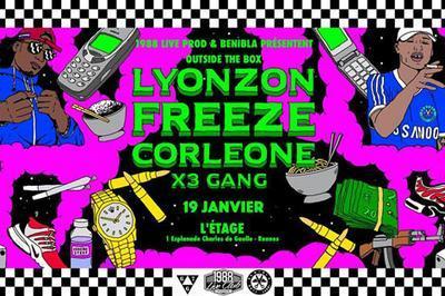 Freeze Corleone + Lyonzon + X3 Gang à Rennes