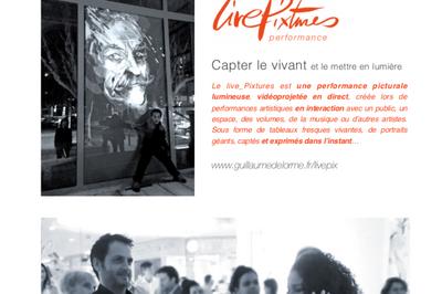 Performance picturale au premier symposium de dessin avec modèle vivant à Boujan sur Libron