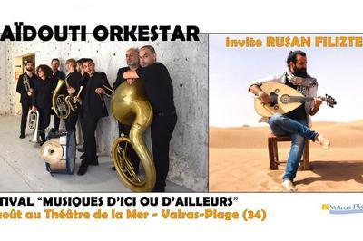 Haïdouti Orkestar invite Rusan Filiztek à Valras Plage