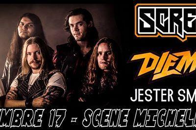 Heavy metal night avec Screamer * Diemond * Jester Smokebreak à Nantes