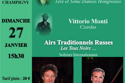 Musiques Slaves, Russes, Hongroises et Tziganes à Champigny sur Marne