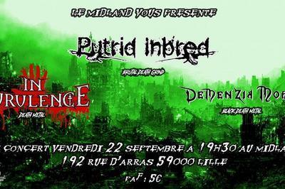 In Purulence / Demenzia Mortis / Putrid Inbred à Lille