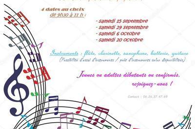 Inscriptions école de musique à Peyrieu