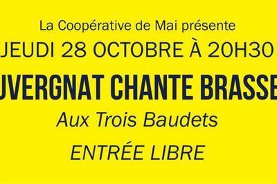 La Coopérative de Mai présente : L'Auvergnat chante Brassens ! à Paris 18ème