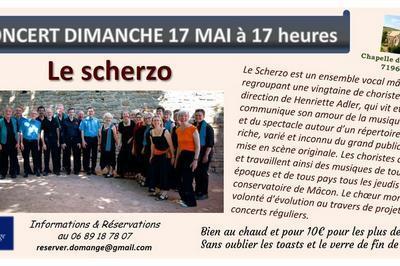 Le Scherzo à Domange concert choral à Ige