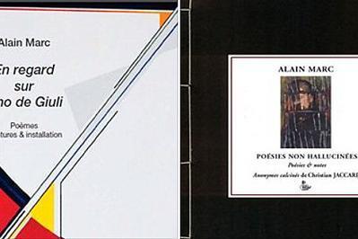 Lecture-signature d'En regard sur Lino de Giuli et de Poésies non hallucinées à Limay