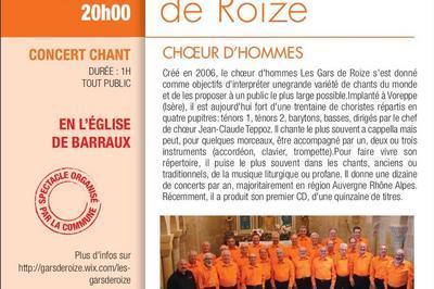 Les Gars de Roize chantent dans l'église de Barraux