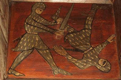 Les Secrets De Fabrication Du Plafond Peint Médiéval à Narbonne