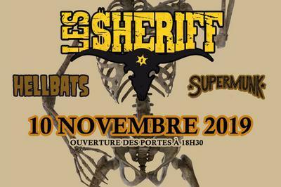 Les Sheriff + Hellbats + Supermunk à Paris 10ème