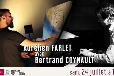 Live Painting par Aurélien Farlet, avec Bertrand Coynault à Saint Riquier