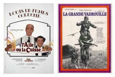Louis de Funès s'affiche à Bercy Village à Paris 12ème
