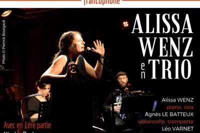 Lundis Chanson ! Alissa Wenz En Trio  à Paris 14ème