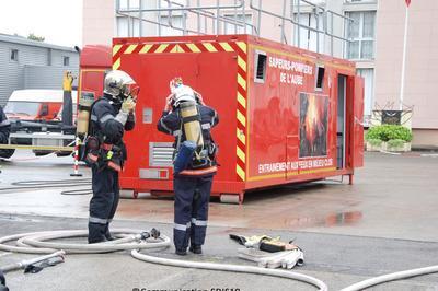 Manoeuvres Incendie à Troyes