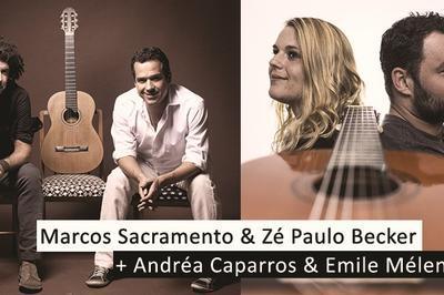Marcos Sacramento  & Ze Paulo Becker Et Andrea Caparros Et Emile Melenchon à Ollioules