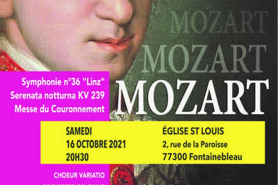 Messe du Couronnement de W.A MOZART à Fontainebleau