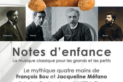 Mini Concerts Notes D'enfance (extraits) Avec Jacqueline Méfano Et François Bou Sur Le Piano Pleyel Grand-concert De Bligny à Briis Sous Forges