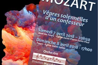 Mozart vespres pour un confesseur Direction Christophe Corp à Joue les Tours