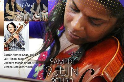 Musique de l'Inde du Nord par l'ensemble Khan à Bois Colombes
