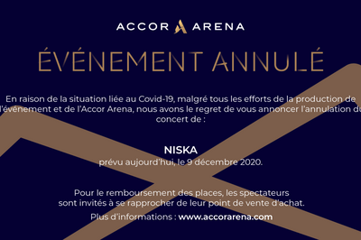 Niska - report à Paris 12ème