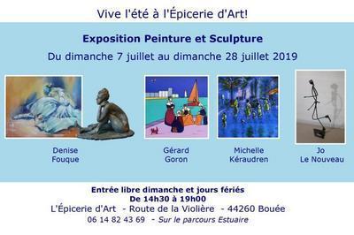 Nouvelle exposition peinture et sculpture à Bouee