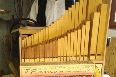 Orgue De Barbarie 27 Touches Pneumatique Erman à Feillens