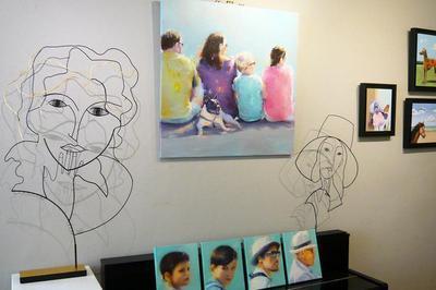 Au fil de l'Homme : exposition de peintures et sculptures à Belleme