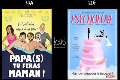 Soirée théâtre : Papa(s) tu feras Maman ! Psycholove à Palavas les Flots