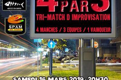 4par3 : Tri-match d'improvisation théâtrale à Castelnau le Lez