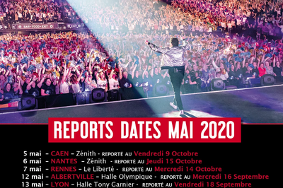 Patrick Bruel Tour 2020 date initialement prévue en mai à Nice