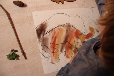Peinture De Mammouth à Bougon