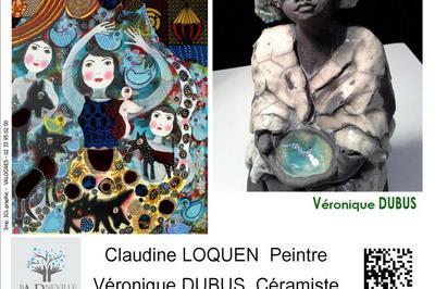 Peintures de Claudine Loquen et sculptures de Véronique Dubus à Barneville Carteret