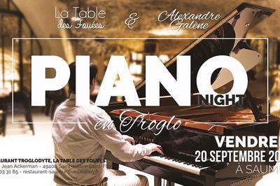 Piano Night en trogodytes à Saumur à Saint Hilaire saint Florent