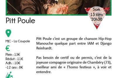 Pitt Poule (Hip-hop manouche) à Chamonix Mont Blanc
