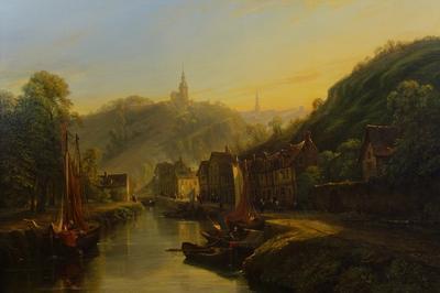 Présentation D'un Tableau Nouvellement Restauré : Le Port De Dinan D'isidore Dagnan (1836)
