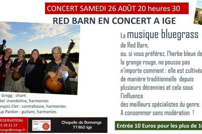 Red Barns ou les Granges Rouges bluegrass à Ige