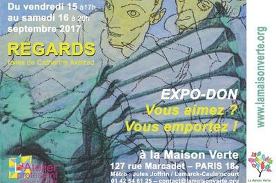 Regards - Toiles De Catherine Axelrad à Paris 18ème