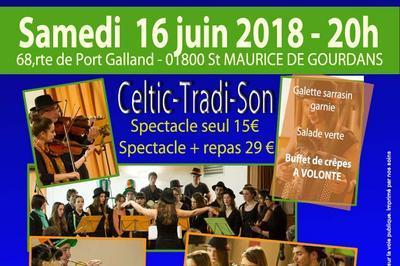 Repas concert avec le groupe Celti Tradi Son -Musique traditionnelle à Saint Maurice de Gourdans