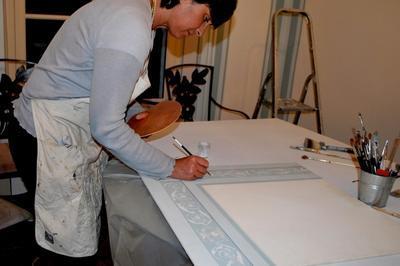 Restauration De Peintures Murales - Démonstration Au Coeur De La Chapelle Mortuaire à Loigny la Bataille