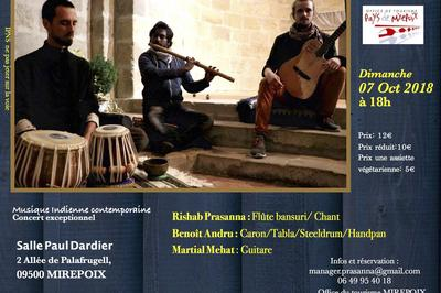 Rishab Prasanna Trio Fusion à Mirepoix