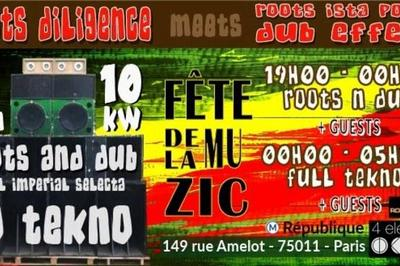 Roots Diligence Meets Roots Ista Posse & Dub Effect à Paris 11ème