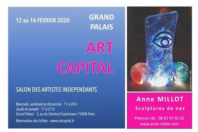 Sculptures de nez à Art Capital 2020 à Paris 8ème
