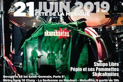 Skacahuètes + Pépin Et Ses Pommettes + Sampo Libre à Paris 5ème